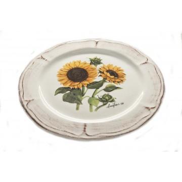Piatto da frutta in ceramica in due diverse fantasie di stile classico