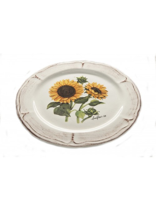Classic dessert plate in ceramic with two different decorations