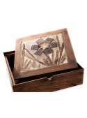 Handmade and hand-decorated wooden box