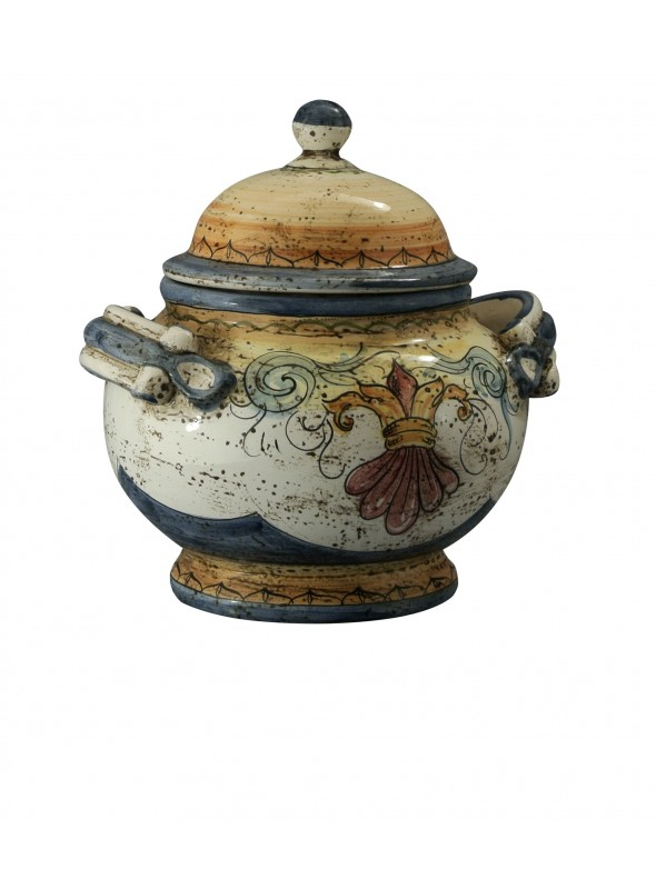 Biscottiera in ceramica di stile classico