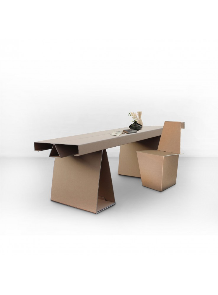 ecodesing desk in cardboard cary