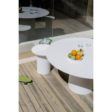 Tavolo con piano circolare in ferro - Chiodo NA7