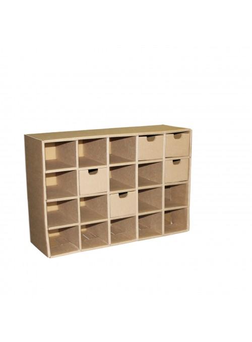 Cassettiera con 20 cassetti ecologica in cartone ondulato - Ingrid