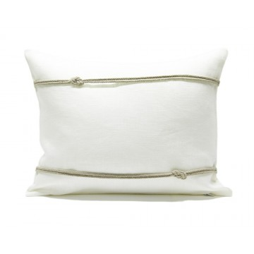 Federa per cuscino in lino con doppio nodo marinaro