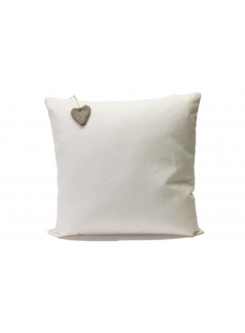 Federa per cuscino in lino resinato con decorazione appesa