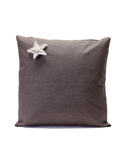 Stain resistant linen pillow cover with hanging decoration