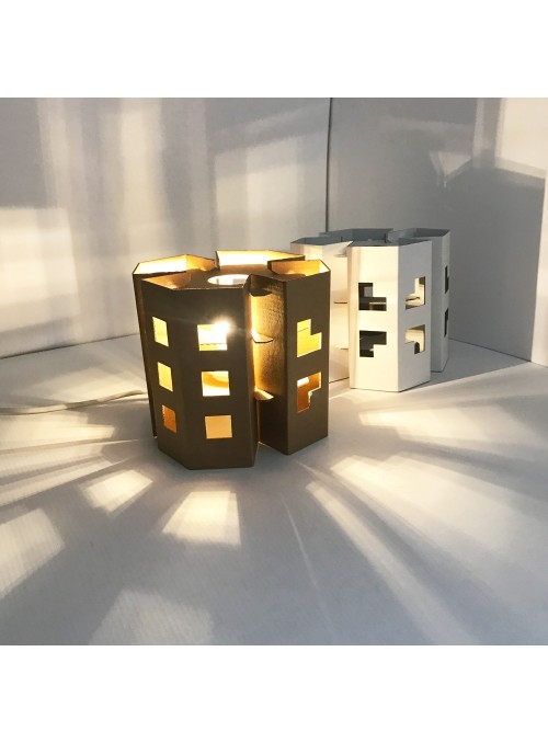 Ecodesign LED Cardboard Lamp - Manhattan