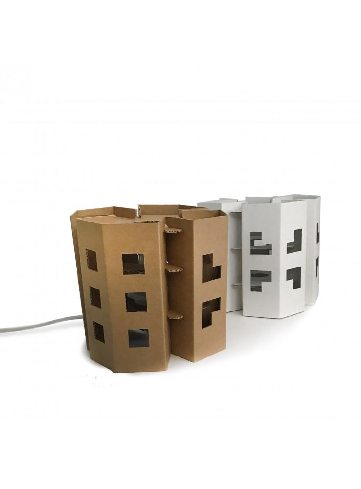 Lampada a LED di ecodesign in cartone - Modello Manhattan