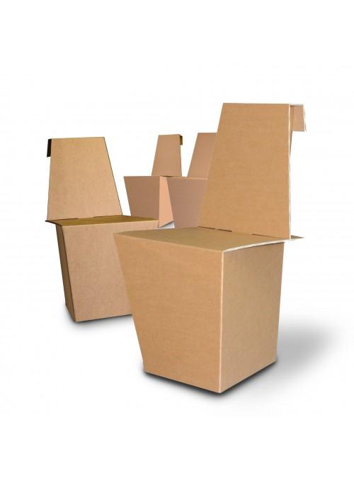 Coppia di sedie leggere di ecodesign in cartone - Ginger