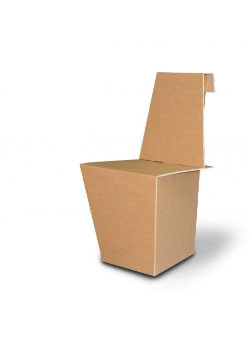 Set di quattro sedie leggere di ecodesign in cartone - Ginger