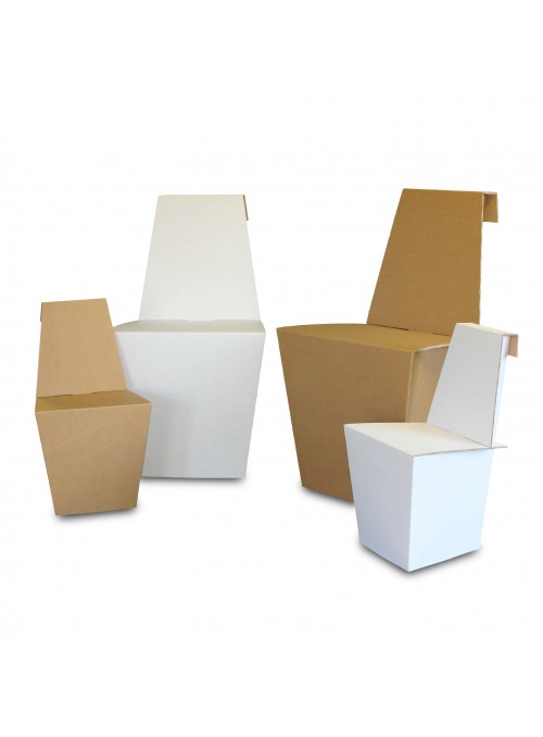 Set of four light ecodesign chairs in cardboard - Ginger