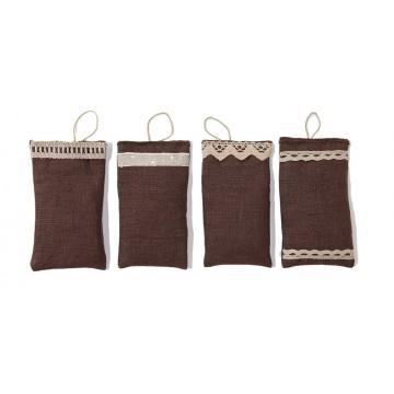 Set di 4 profumabiancheria in lino
