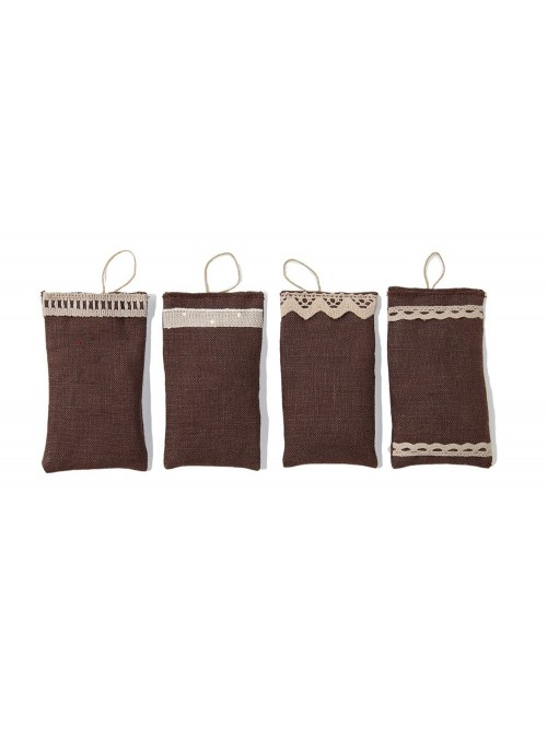 Set of 4 linen scented sachets