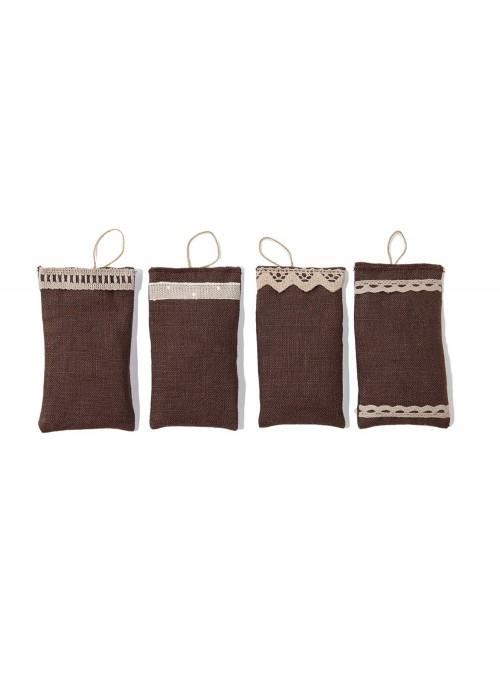 Set of 4 linen scented sachets