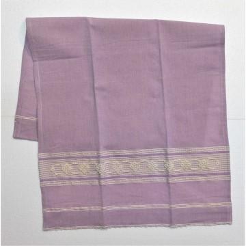 Set di due asciugamani in cotone ricamato a mano