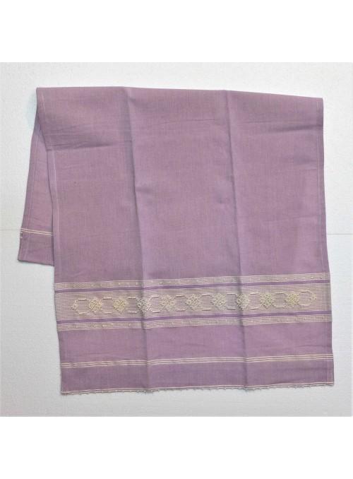 Set di due asciugamani in cotone decorati a mano