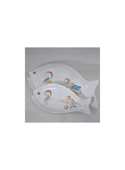 Servizio patti a forma di pesce decorato a mano