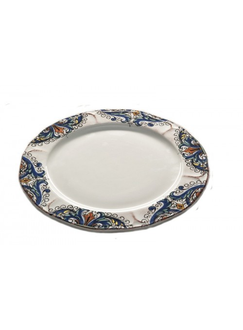 Side plate in ceramic with two different decorations