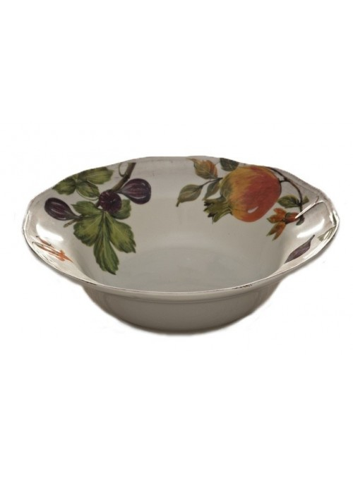 Salad bowl in ceramic with four different decorations
