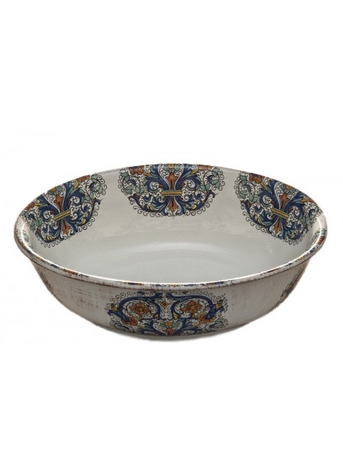 Salad bowl in ceramic with three different decorations