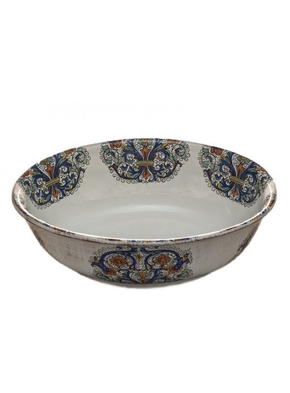 Insalatiera ovale in ceramica in tre diverse fantasie
