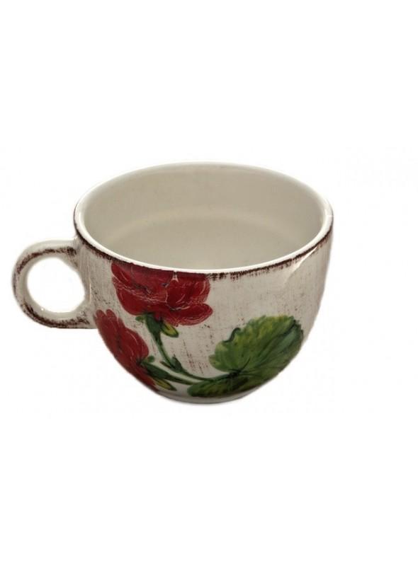 Breakfast cup in ceramic in three decorations