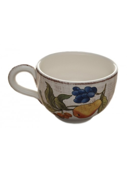 Breakfast cup in ceramic in three decorations