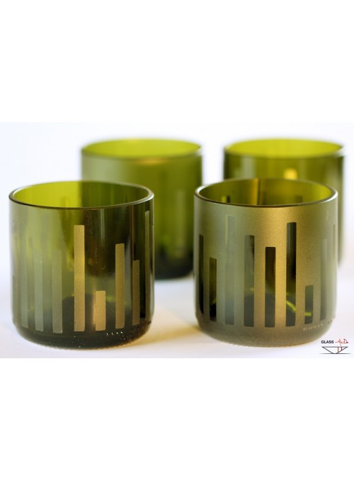 Hand-crafted tumbler 4 glasses set - Urban