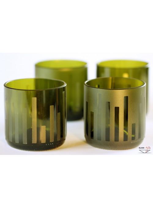 Set di quattro bicchieri tumbler decorati a mano - Urban