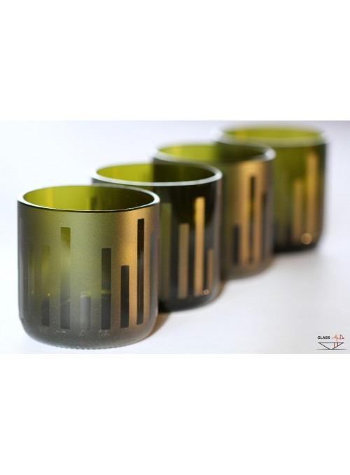 Hand-crafted tumbler glasses with a skyline pattern - Urban