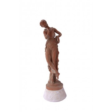 Statuetta di vestale con corona