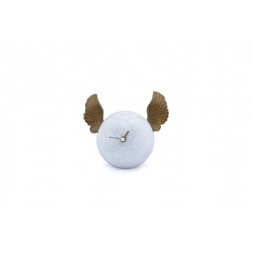 Hand-decorated table clock - Golden wings