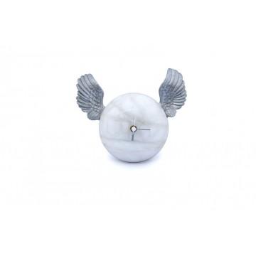 Orologio da tavolo in alabastro - Ali d'argento