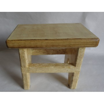 Hand crafted wooden stool