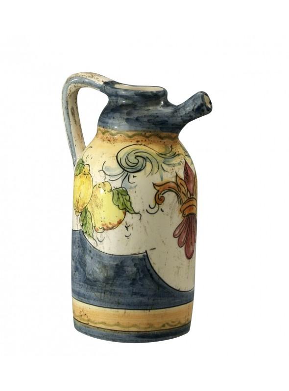 Orcino di ceramica classico, cotto e decorato a mano
