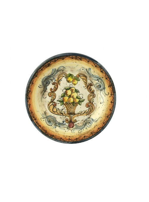 Small hand-painted decorative ceramic plate