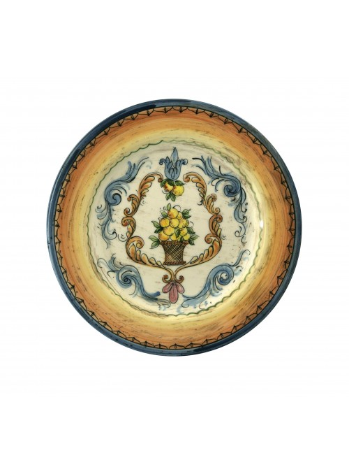 Medium size hand-painted decorative ceramic plate