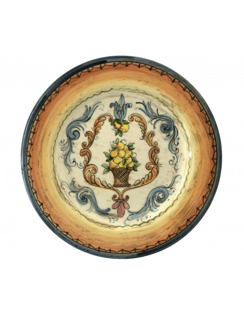 Hand-painted decorative big ceramic plate