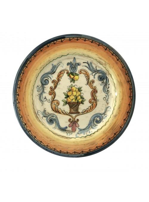 Hand-painted decorative big ceramic plate