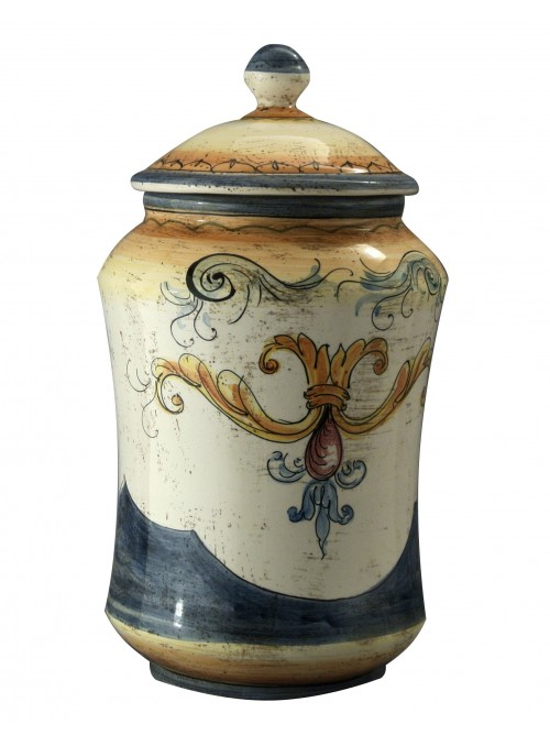 Hand-painted big albarello vase