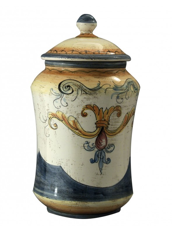 Hand-painted big albarello vase