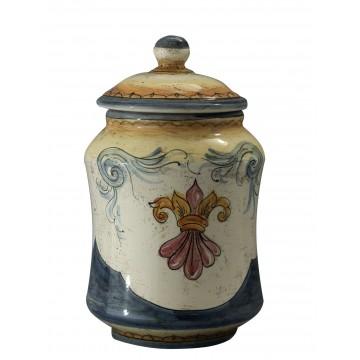 Albarello medio in ceramica cotta e decorata a mano