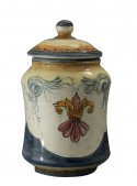 Hand-painted medium size albarello vase