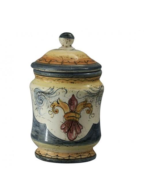 Hand-painted small albarello vase