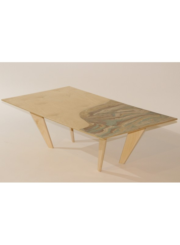 Coffee Table Of Geris Mortar And Birch Wood