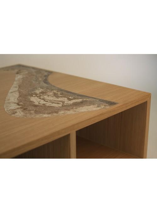Tavolo in Malta di Geris e legno di rovere