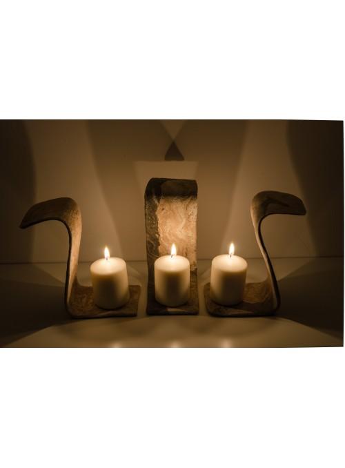 Porta candele in Malta di Geris - Bugie