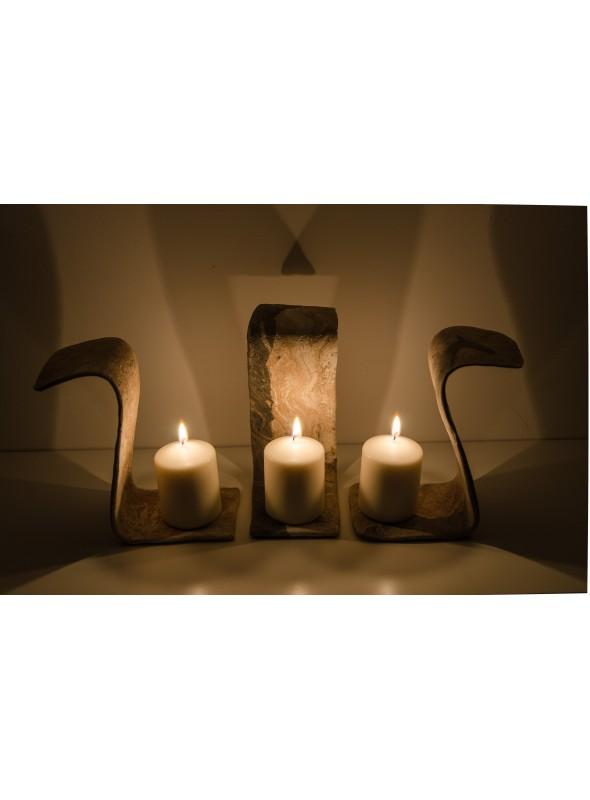 Porta candele in Malta di Geris