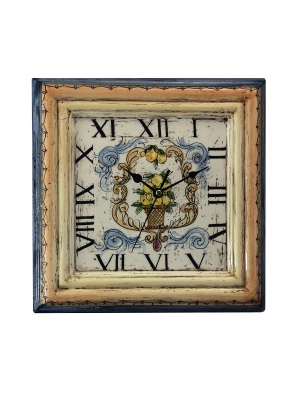 Hand-painted decorative ceramic clock