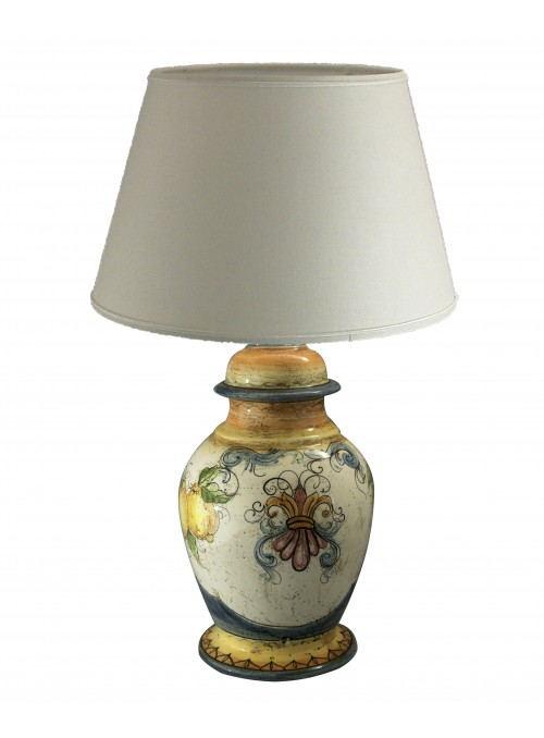 Hand-painted ceramic big table lamp